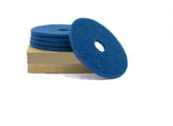 "Poly pad Blauw 7"", 180 x 22 mm."