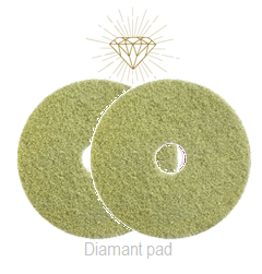 Diamant pad Geel 9 Inch, 229 x 22 mm Stap 2