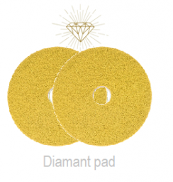 Diamant Pad Geel 15 Inch, 380 X 22 Mm Stap 2