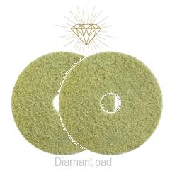 Diamant Pad Geel 13 Inch, 330 X 22 Mm Stap 2