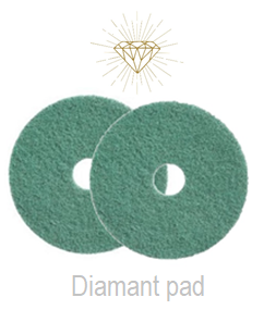 Diamant Pad Groen 10 Inch, 255 X 22 Mm Stap 4