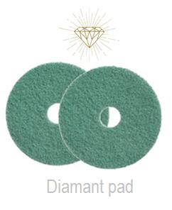 Diamant pad Groen 18 Inch, 460x22 Stap 4 (2)