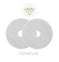 Diamant Pad Wit 9 Inch, 229 X 22 Mm Stap 1