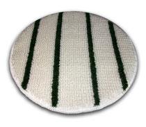 Tapijt pad diameter 43 (wit/ groen) (wol)